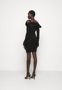 Hervé Léger - PUCKERED STITCH RUFFLE MINI DRESS - Cocktail dress / Party dress - black - 2
