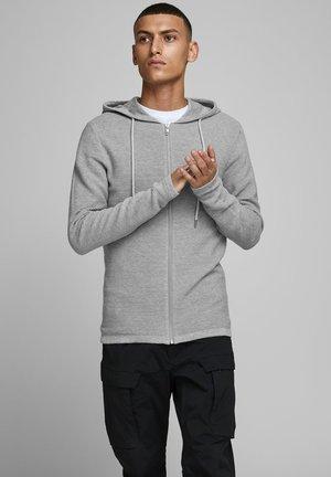 Hoodie met rits - light grey melange