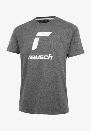 ESSENTIALS - Print T-shirt - dark grey/white