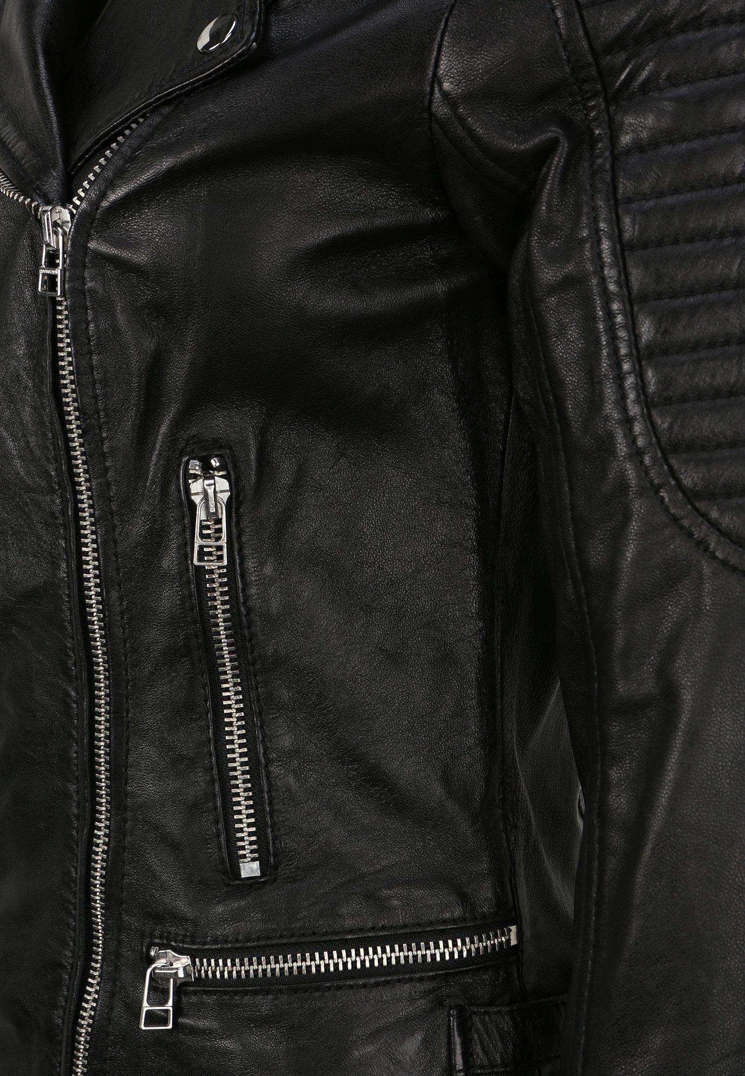 Goosecraft Lederjacke black/schwarz