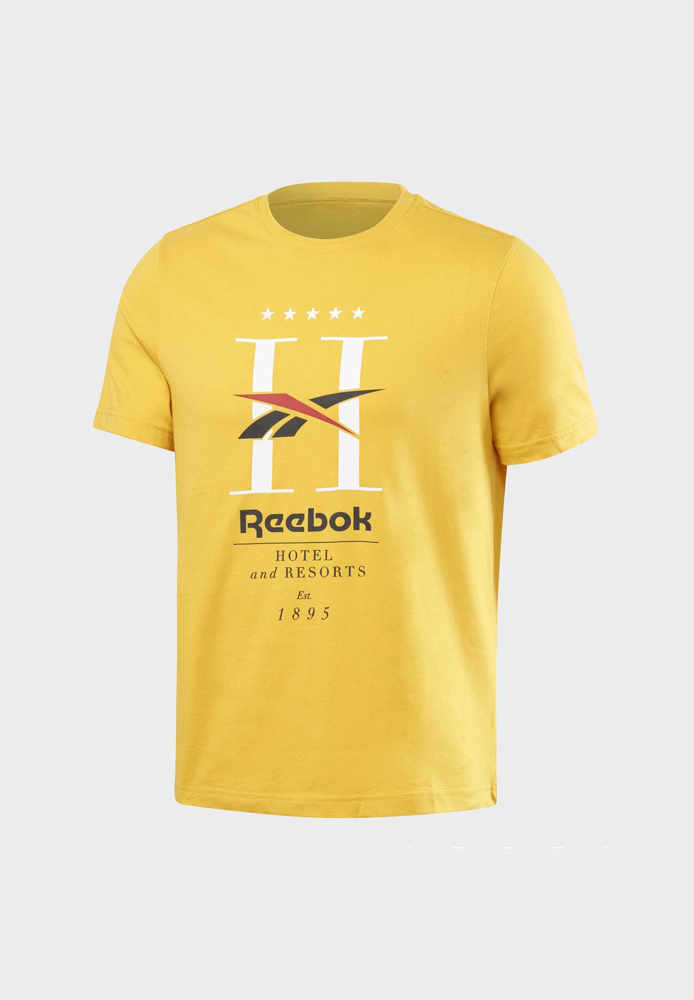 Reebok Classic T-shirts Med Print - Gold/gull