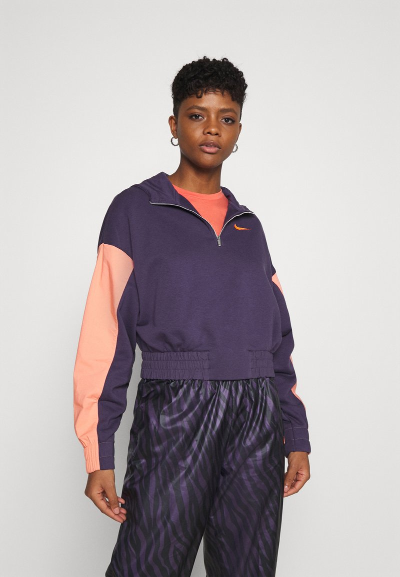 Nike Sportswear - HOODIE - Sweatshirt - dark raisin/crimson bliss/bright mango