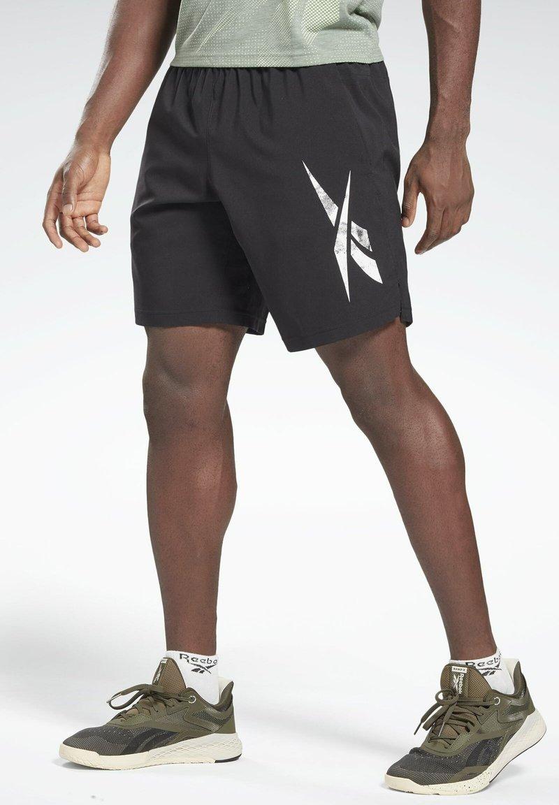 Reebok - WORKOUT READY SPEEDWICK REECYCLED SHORTS - Krótkie spodenki sportowe - black