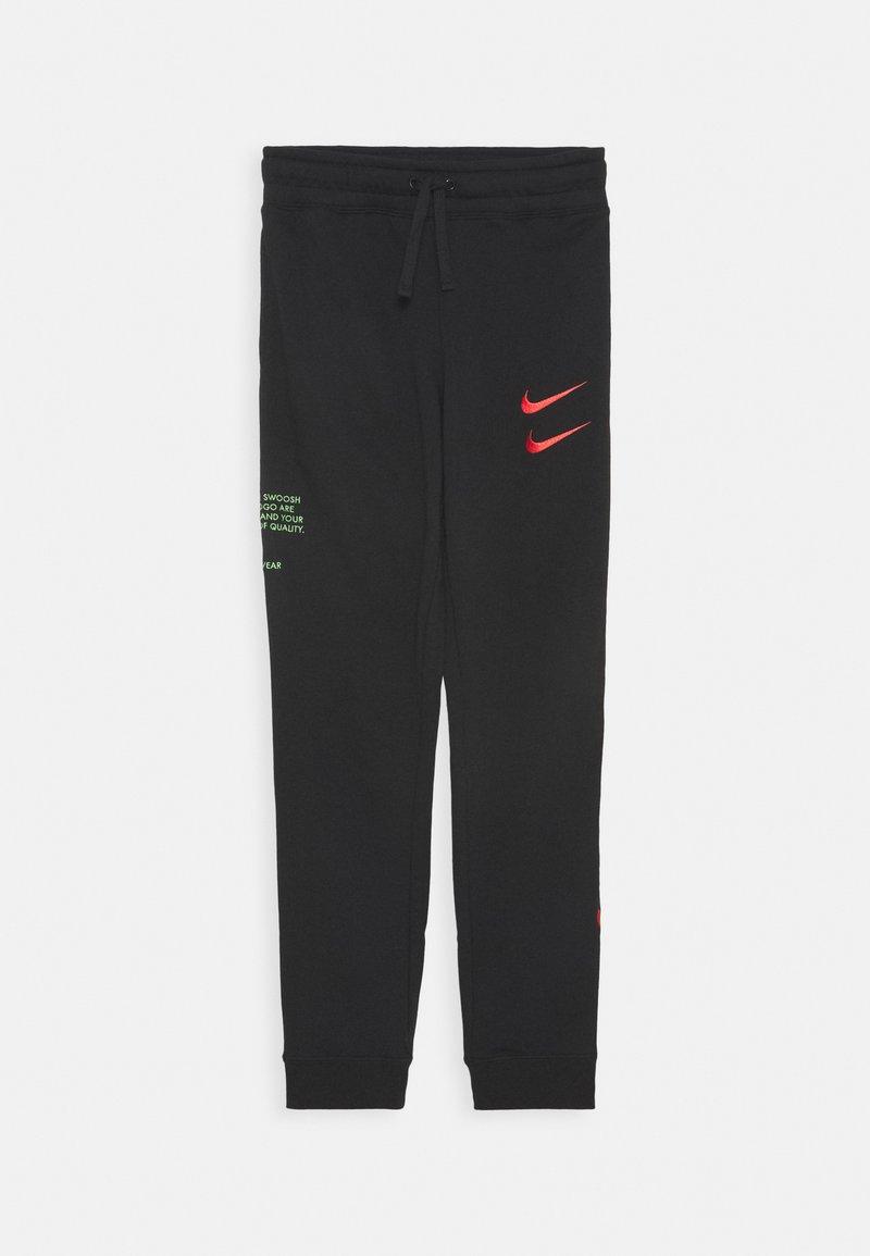 Nike Sportswear - Teplákové kalhoty - black/ember glow