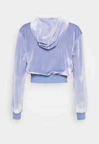 Topshop - DIAMANTE HOODY - Zip-up hoodie - lilac - 1