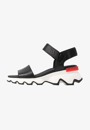 KINETIC™  - Sandalen met plateauzool - black