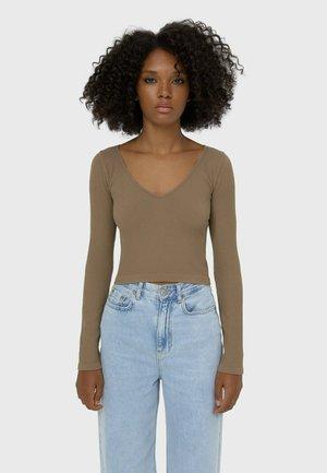 Maglietta a manica lunga - brown