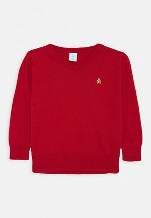 TODDLER BOY V NECK - Jumper - modern red