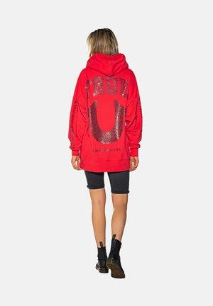 HOODY BOXY TRUE HORSESHOE  - Hoodie -  red
