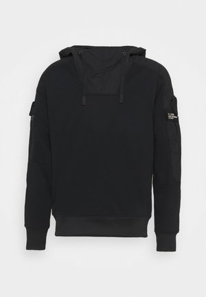 MIXED CARGO HOODED - Sweatshirt - dark black