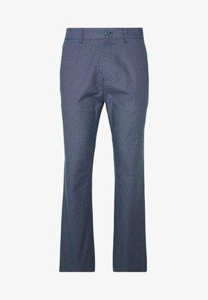 SLIM TEXTYRED - Oblekové kalhoty - blue