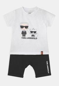 KARL LAGERFELD - BABY SET UNISEX - Print T-shirt - black - 0