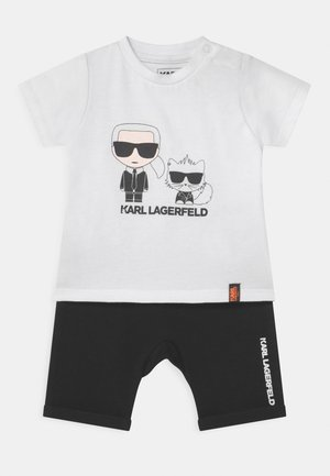 BABY SET UNISEX - Print T-shirt - black