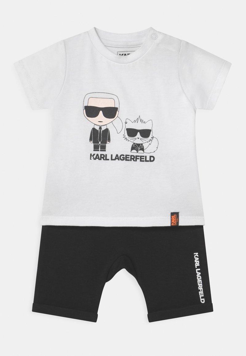 KARL LAGERFELD - BABY SET UNISEX - Print T-shirt - black