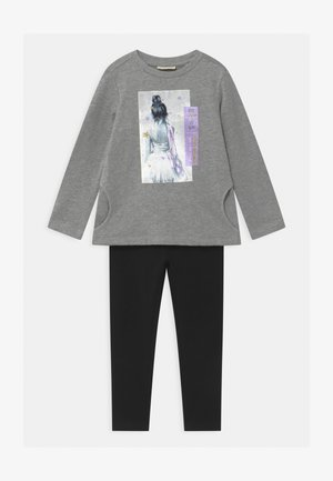 TERRY SET - Sweatshirt - silver