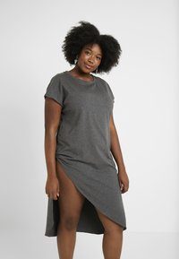 Simply Be - SEVERE ASYMMETRIC - Robe en jersey - charcoal marl - 3