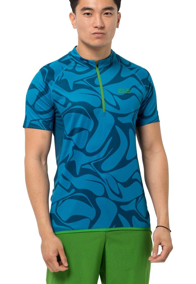 Jack Wolfskin - GRADIENT - T-Shirt print - blue jewel all over