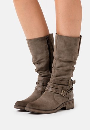 Cowboy/Biker boots - taupe
