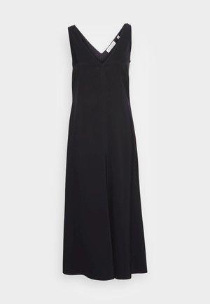 DRESS MODERN LINGERIE STYLE FRONT SEAM FLARED MIDI - Korte jurk - black