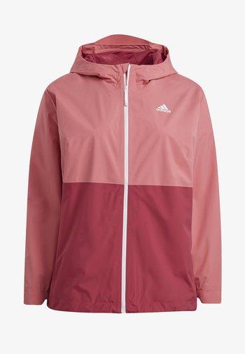Waterproof jacket - hazy rose/wild pink