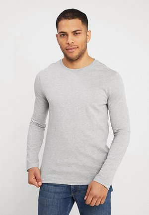 BASIC CREW NECK - Long sleeved top - light grey