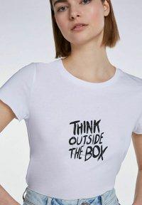SET - Print T-shirt - bright white - 3