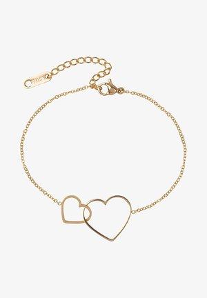 MET HARTJES  - Armband - gold