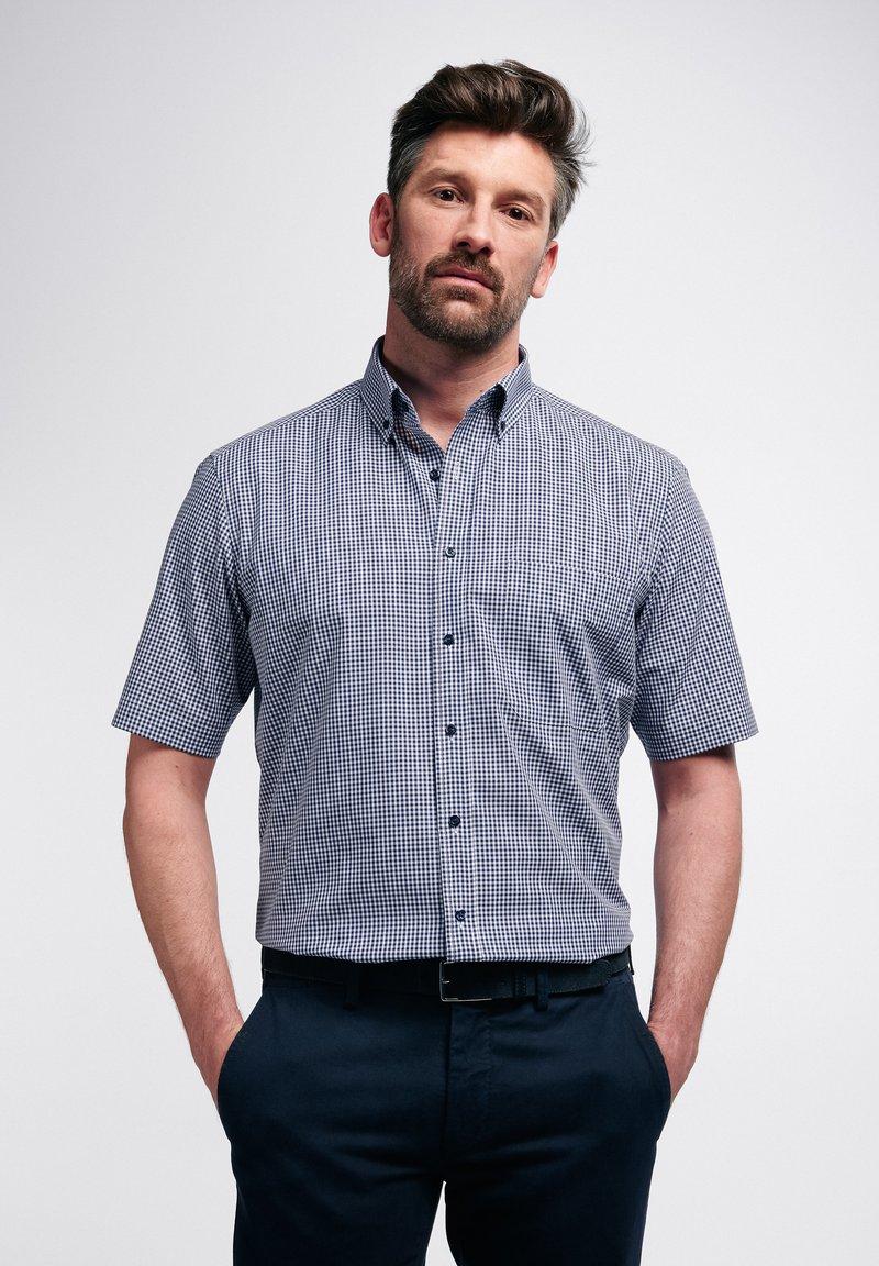 Eterna - COMFORT FIT - Shirt - marine/weiß