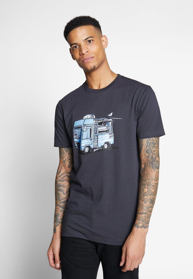 Cleptomanicx - ICECREAM TRUCK - Print T-shirt - phantom black