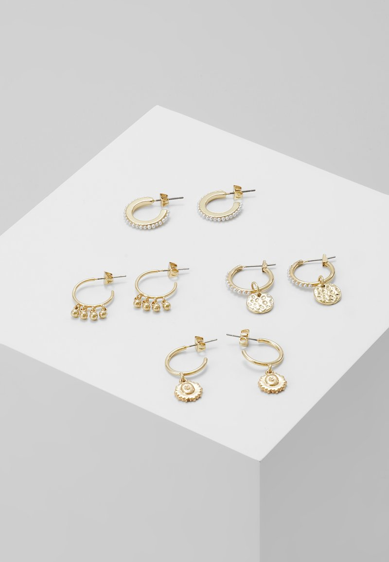 Pieces - PCHIPEA HOOP EARRINGS 4 PACK - Náušnice - gold-coloured