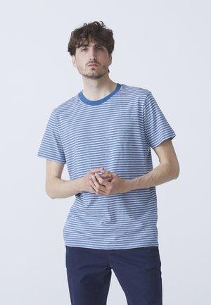 T-shirt med print - light blue