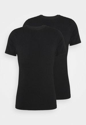 O NECK 2 PACK - Pyžamový top - black