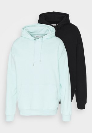2 PACK UNISEX - Sweat à capuche - black/mint