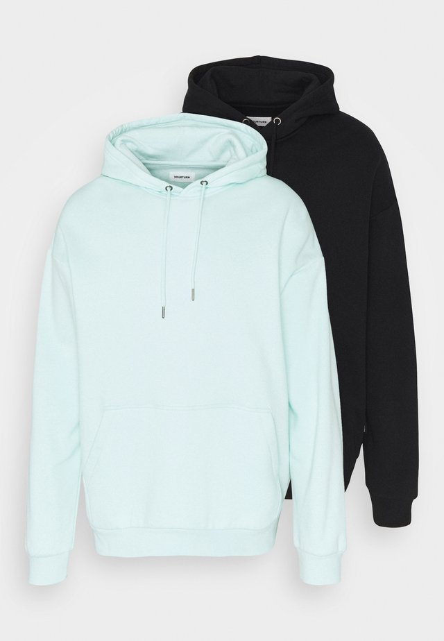 2 PACK UNISEX - Huppari - black/mint