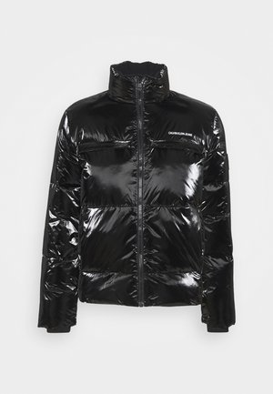 HIGH SHINE PUFFER - Winter jacket - black