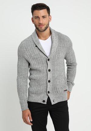 Kardigan - mottled dark grey
