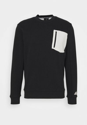 MUST HAVES SPORTS - Sweatshirt - black/cream white