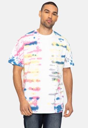 Print T-shirt - rainbow tie dye