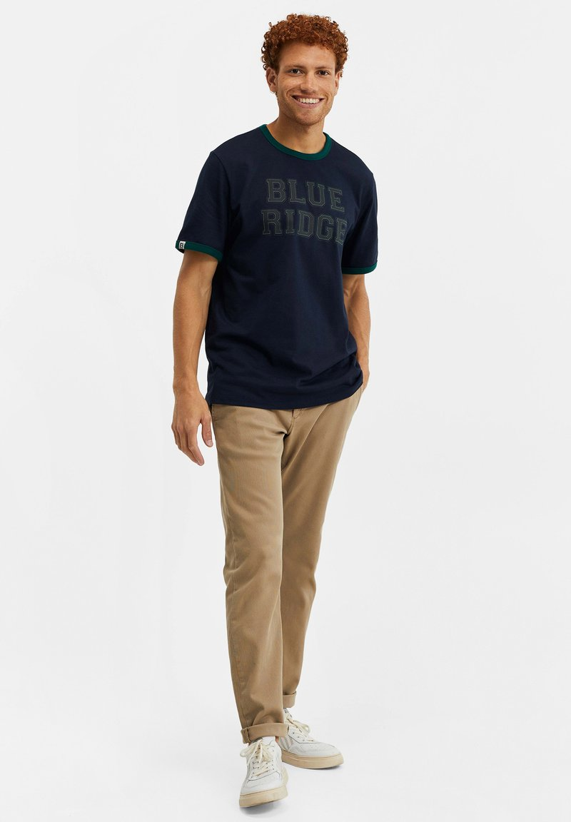 WE Fashion T-Shirt print - dark blue/dunkelblau 2wSrrm