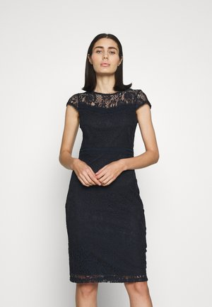 TRIM PENCIL - Shift dress - navy