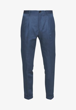 MENS TROUSER PLEATED - Pantaloni - blue
