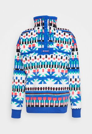 POWDER - Fleecepullover - white/lapis blue