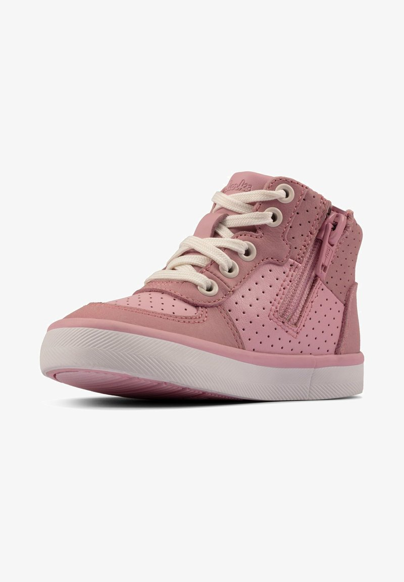 Clarks - CITY FLAKE TODDLER - Lace-up ankle boots - pink