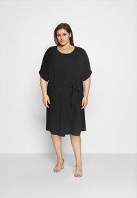 ONLY Carmakoma - CARJACKIE KNEE DRESS - Day dress - black - 1