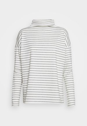 KALIDDY HIGH NECK - Long sleeved top - chalk/grey melange