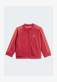 adidas Performance - STRIPES TRICOT TRACKSUIT - Survêtement - pink - 1