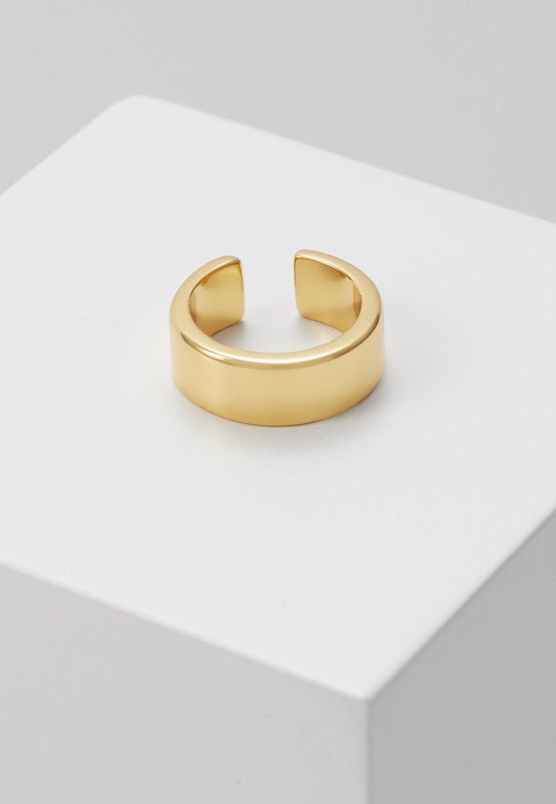 Orelia - LUXE CHUNKY SINGLE EAR CUFF - Earrings - pale gold-coloured