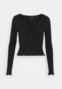 Lindex - LINNEA - Bluzka z długim rękawem - black - 0