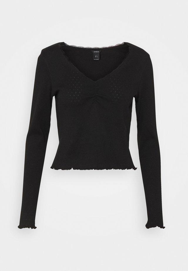 LINNEA - Top sdlouhým rukávem - black