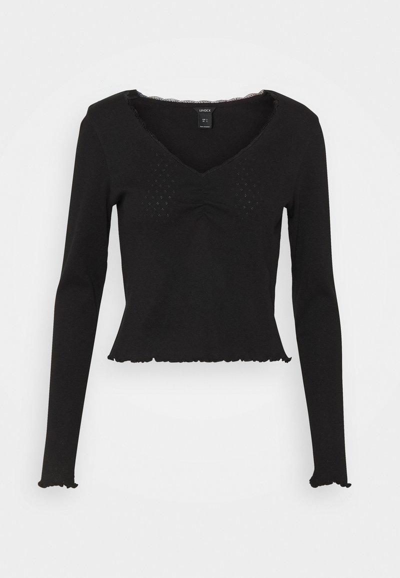 Lindex - LINNEA - Bluzka z długim rękawem - black